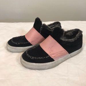 Puma corduroy furry slip on sneakers